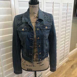 Fire Los Angeles Women's Cropped Denim Jacket -M